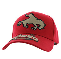 VM212 Rodeo Horse Rider Velcro Cap (Solid Red)