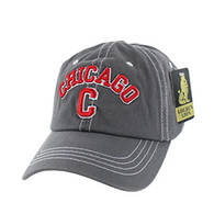 BM001 Chicago Washed Cotton Cap (Solid Charcoal)