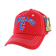 BM001 Chicago Washed Cotton Cap (Solid Red)