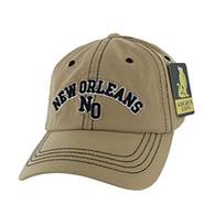 BM001 New Orleans Washed Cotton Cap (Solid Khaki)