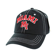BM001 Miami Washed Cotton Cap (Solid Black)