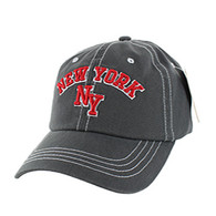 BM001 New York Washed Cotton Cap (Solid Charcoal)