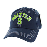 BM001 Seattle Washed Cotton Cap (Solid Navy)