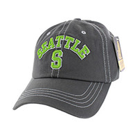 BM001 Seattle Washed Cotton Cap (Solid Charcoal)
