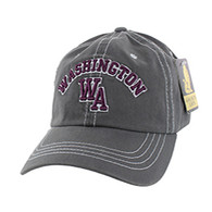 BM001 Washington Washed Cotton Cap (Solid Charcoal)