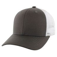SP003 Blank Cotton Classic Mesh Trucker Cap (Dark Grey & White)