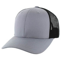 SP003 Blank Cotton Classic Mesh Trucker Cap (Light Grey & Black)
