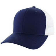 SP003 Blank Cotton Classic Mesh Trucker Cap (Navy & White)