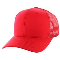 SP003 Blank Cotton Classic Mesh Trucker Cap (Red & Red)