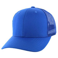 SP003 Blank Cotton Classic Mesh Trucker Cap (Royal & Royal)