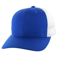 SP003 Blank Cotton Classic Mesh Trucker Cap (Royal & White)