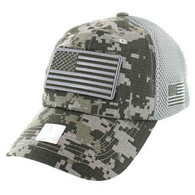 VM9001 USA Flag Soft Mesh Cap (ACU Digital Camo)