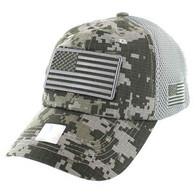 VM9001 USA Flag Soft Mesh Cap (ACU Digital Camo)