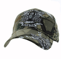 VM271 Ride to Freedom, Born to Ride Velcro Cap (Solid Hunting Camo)