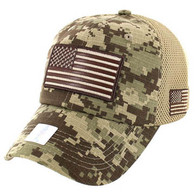 VM9001 USA Flag Soft Mesh Cap (Desert Digital Camo)