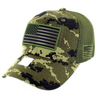 VM9001 USA Flag Soft Mesh Cap (Forest Digital Camo)