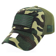 VM9001 USA Flag Soft Mesh Cap (Military Camo)
