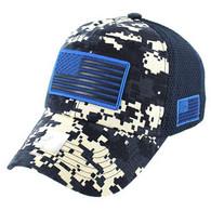 VM9001 USA Flag Soft Mesh Cap (Navy Digital Camo)