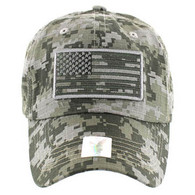VM9002 USA Flag Washed Cotton Cap (Solid ACU Digital Camo)