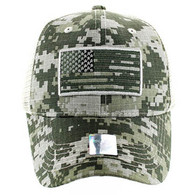 VM9003 USA Flag Mesh Trucker Cap (ACU Digital Camo)