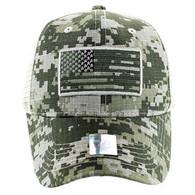 VM9003 USA Flag Mesh Trucker Cap (ACU Digital Camo)