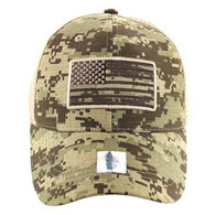 VM9003 USA Flag Mesh Trucker Cap (Desert Digital Camo)