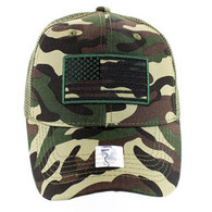 VM9003 USA Flag Mesh Trucker Cap (Military Camo)