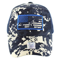 VM9003 USA Flag Mesh Trucker Cap (Navy Digital Camo)