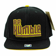 SM1000 Be Humble Snapback (Solid Black)