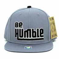 SM900 Be Humble Snapback (Solid Grey)