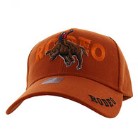 VM336 Rodeo Bull Rider Velcro Cap (Solid Texas Orange)