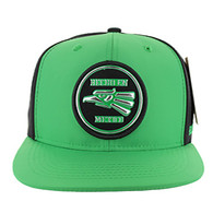 SM062 Hecho En Mexico Snapback Cap (Kelly Green & Black)
