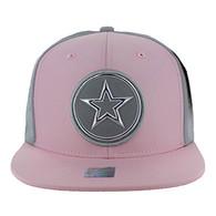 SM062 Star Snapback Cap (Light Pink & Grey)