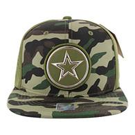 SM062 Star Snapback Cap (Military Camo & Olive)