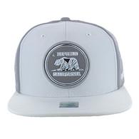 SM062 Cali Bear Snapback Cap (White & Grey)