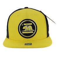 SM062 Cali Bear Snapback Cap (Gold & Black)