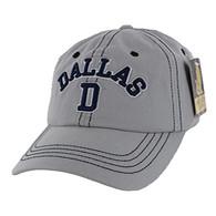 BM001 Dallas Washed Cotton Cap (Solid Grey)