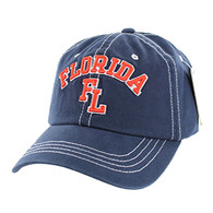 BM001 Florida Washed Cotton Cap (Solid Navy)