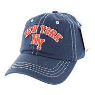 BM001 New York Washed Cotton Cap (Solid Navy)