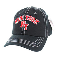 BM001 New York Washed Cotton Cap (Solid Black)