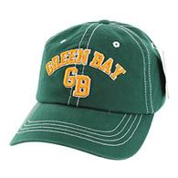BM001 Green Bay Washed Cotton Cap (Solid Dark Green)