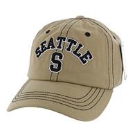 BM001 Seattle Washed Cotton Cap (Solid Khaki)