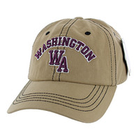 BM001 Washington Washed Cotton Cap (Solid Khaki)