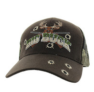 VM555 Big Buck Velcro Cap (Brown & Hunting Camo)