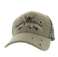VM555 Big Buck Velcro Cap (Khaki & Hunting Camo)