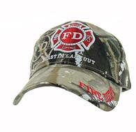 VM062 Fire Dept Velcro Cap (Solid Hunting Camo)