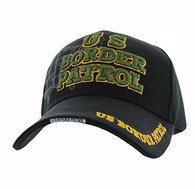 VM141 US Border Patrol Velcro Cap (Solid Black)