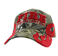 VM079 Fire, First In Last Out Velcro Cap (Solid Hunting Camo)