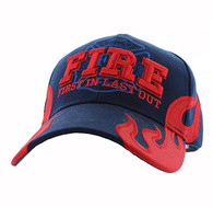 VM079 Fire, First In Last Out Velcro Cap (Solid Navy)