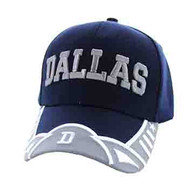 VM421 Dallas City Velcro Cap (Navy & Light Grey)